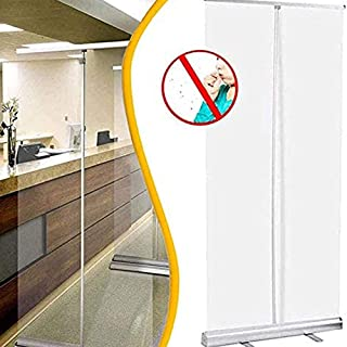 Roll up BannièRe Transparente à Enrouler Sneeze Guard, éCran Protection Contre La Toux, Bouclier Distance Sociale, Protect...