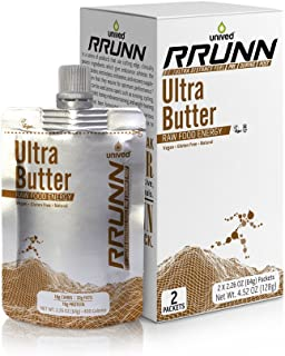 Unived RRUNN Ultra Butter, Fat Based Fuel with Cashew, Peanuts, Coconut, Dates, and More, for Endurance Ultra Athletes, Runners, Cyclists, Hiking, Vegan, Keto Butter, Pack of 2 Pouches (4 Servings)