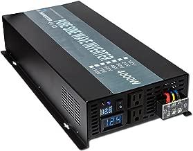 WZRELB Reliable 4000W Solar Power Inverter 12VDC to 120V AC Off Grid Pure Sine Wave Inverter LED Display