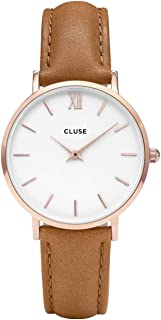 Cluse Womens Analogue Classic Quartz Watch with Leather Strap CL30021