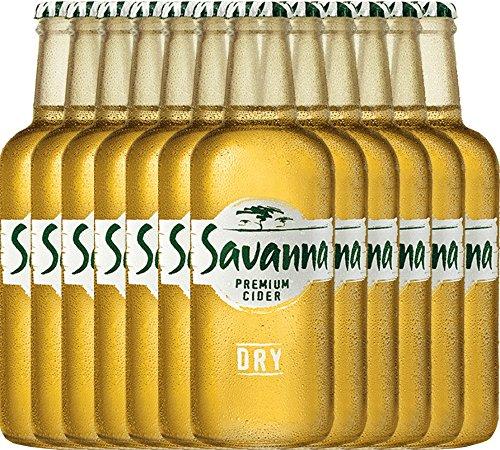 VINELLO 12er Cider-Paket - Savanna Premium Dry Cider | südafrikanischer Cidre | perfekt für den Sommer | 12 x 0,33 Liter