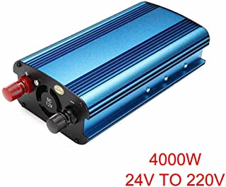 Sunnymal 3000 W/4000 W inversor de energía Solar para Auto DC 12/24 V a AC 220 V convertidor de Onda sinusoidal modificada, 12V To 220V 4000W, Multicolor