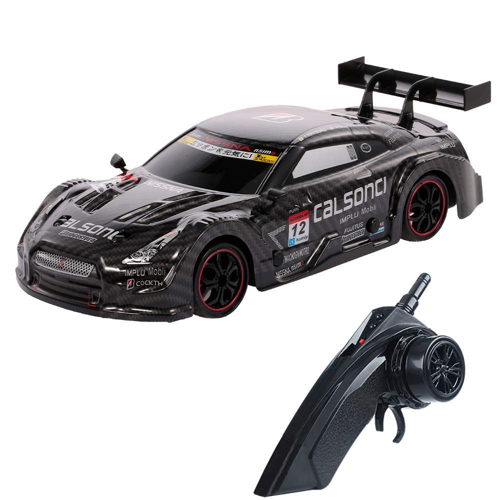 Amazon.com: GoolRC Racing Drift RC Car, 1/18 Scale 4WD 2.4GHz Remote  Control Car, 28km/h High Speed Racing Car for Adults and Kids (Black): Toys  & Games
