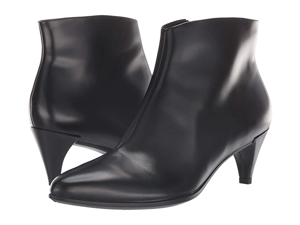ECCO Shape 45 Kitten Heel Boot (Black Calf Leather) Women