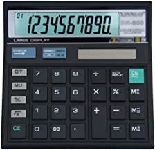 $39 » Z-Color Multi-Function 12 Digit Extra Large Display, Dual Power Standard Function Electronic Portable, Desktop Calculator,...