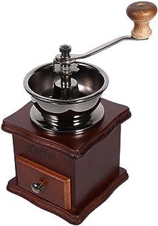 ハンドグラインダー、コーヒーグラインダー、1本のレトロデザインのコーヒーミル、ホームオフィス用のAeropressドリップコーヒー用