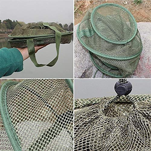 YMYGCC Fish trap 3 Layers Quick-dry Fishing Net Folding Mesh Net Shrimp Fishing Tackle Minnow Fishing Net Bait Trap Cast Dip Net Cage 4 Sizes 21 (Color : 35cm)