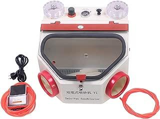 Alkita Double-Pen Fine Sand Blasting Machine Lab Sandblaster + Foot Pedal Control