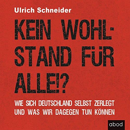 Kein Wohlstand für alle!? Wie sich Deutschland selber zerlegt und was wir dagegen tun können Titelbild