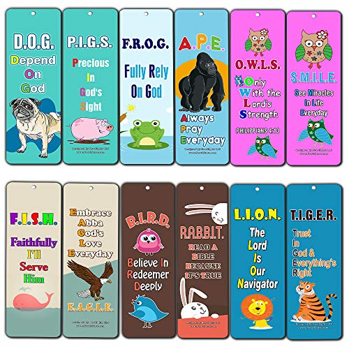 Religious Depend on God Bookmarks for Kids Boys Girls (60-Pack) - Great Giveaway Stocking Stuffers for Children Ministries Sunday Schools Homeschooling VBS Thanksgiving Christmas Encouragement Gifts