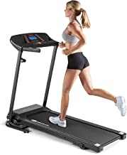 Goplus Electric Folding Treadmill, Adjustable Incline and Low Noise Design, with LCD Display and Heart Rate Sensor, Compact Running Machine for Home Use (Low Noise Design)