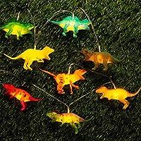 10個入りLEDクリスマスの雰囲気ライトオーナメントクリスマスルーム恐竜の文字列ライトキッズギフトの漫画の装飾 (Color : Orange)