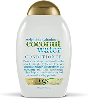 OGX Weightless Hydration + Coconut Water Conditioner, 13 Ounce Bottle  Sulfate-Free Surfactants