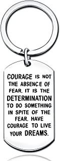 Courage is not the absence of fear it is the determination to do sth in spite of the fear Key Chain Ring