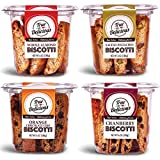 True Delicious BISCOTTI, 4 Boxes of Different Flavors (Whole Almond, Salted Pistachio, Orange Chocolate Chip, Cranberry), 4x6oz
