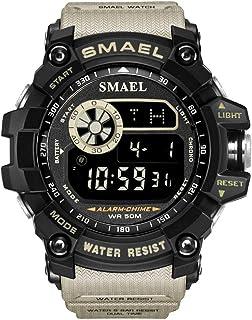 KXAITO Men's Military Sports Watch Outdoors Waterproof LED Back Light Countdown Alarm Stopwatch Compass Casual Fashion Brand Digital Wristwatch