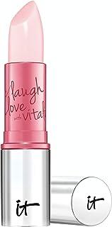 IT Cosmetics Vitality Lip Flush 4-in-1 Reviver Lipstick Stain, Je Ne SAIS Quoi - Long-Wear Color + Hydration - with Shea Butter, Aloe, Jojoba, Plum Oil & Cherry Oil - 0.11 oz