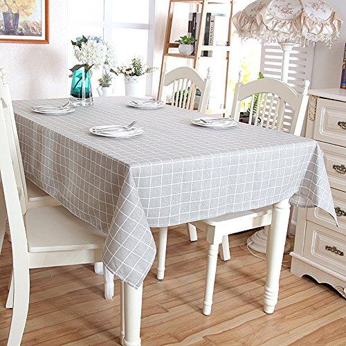 Tissu De Coton Géométrie Simple Grille Rectangulaire Maison Table Basse
