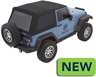 Bestop Black 54922-17 Twill Trektop NX Glide Convertible Soft Top for 07-17 Wrangler 2-Door