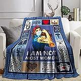 Joyloce Regalos para enfermeras y mujeres, manta de forro polar de franela, manta súper suave, cálida y acogedora para cama, sofá de 156 x 150 cm