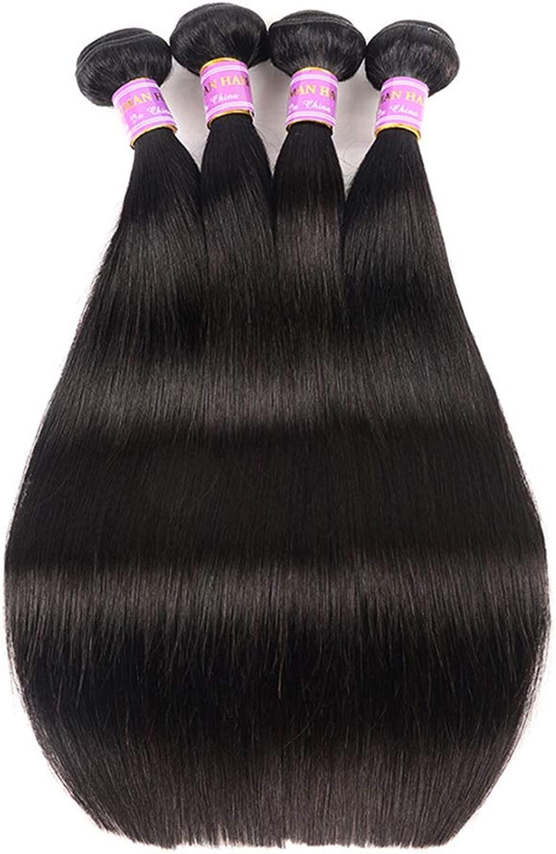 9Aブラジルのストレートヘア3バンドル安いブラジルのヘアバンドルストレート人間の髪の束ナチュラルブラックカラー300グラム