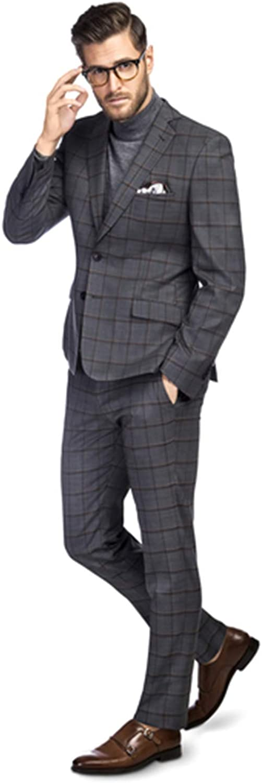 Men's Black Suits Slim fit 2-Piece Suit Jackets Casual Business Blazer Wedding Party Bespoke Suit Morning Suits