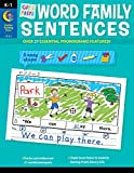 Creative Teaching Press Cut & Paste Word Family Sentences Pre-K - 1st Grade Activity workbook (Over 37 Essential Phonograms Featured!) (2217)