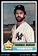 1976 Topps # 650 Thurman Munson New York Yankees (Baseball Card) Dean's Cards 7 - NM Yankees