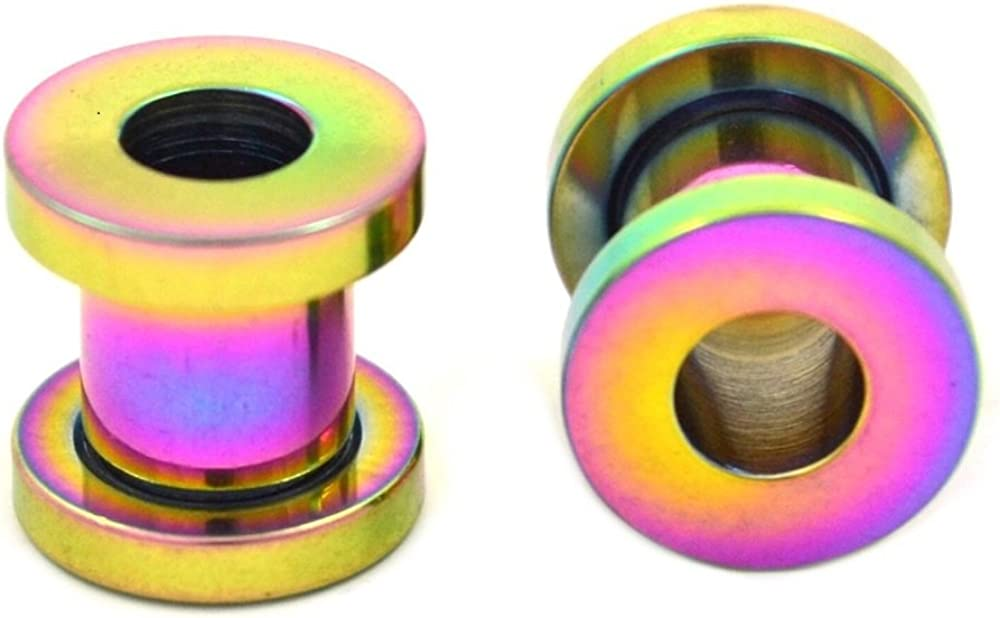 TheCheshireCat Multi Color Max 83% OFF Anodized Screw-fit Titanium Tunne Ear Max 81% OFF