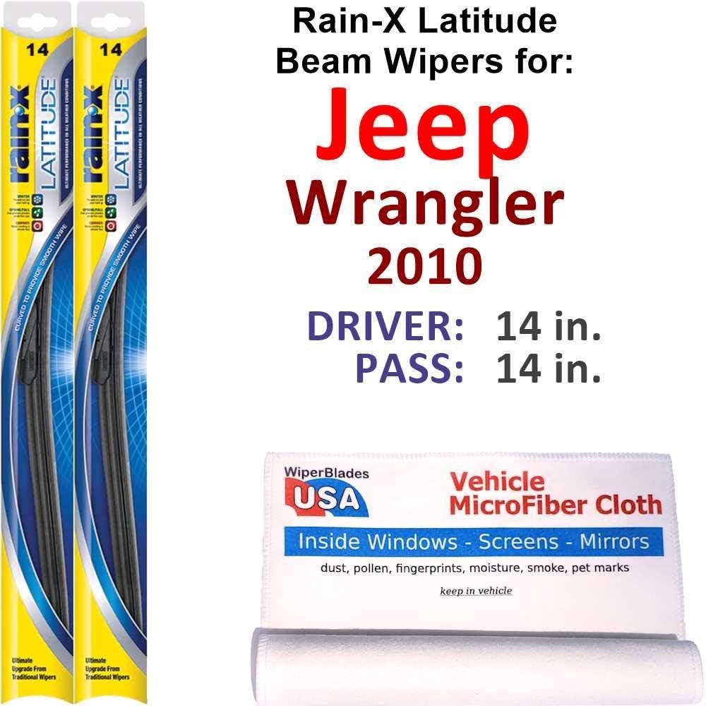Rain-X Latitude Beam Wiper Blades for 2010 Jeep Popular brand OFFicial site in the world Set Rai Wrangler
