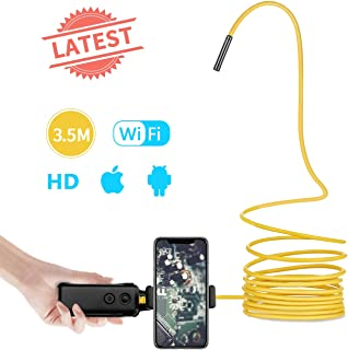 [Latest] Borescope Camera for iPhone and Android Smartphone JOYTRIP HD Wireless WiFi Endoscope Inspection Camera 4X Digital Zoom Waterproof Industrial Endoscope with Semi-Rigid Cable (11.5ft,Yellow)