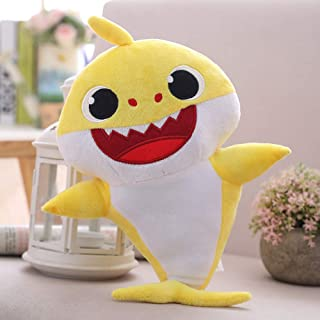 OMGOD Baby Shark Plush Toy, Baby Shark Family Song Doll, Can Sing & Light, Preschool Plush Interactive Toys Animated Plush Doll Present Gift for Baby & Toddler - Yellow