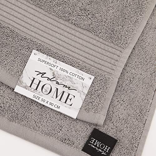 Adam Home Satin Streifen Handtuch 100{9fb0233a8b9338f93a8d303a9bc434c04573b2a5e4d81851b878c86e51414217} ägyptisch Baumwolle (Bath Towel, Cream) DE