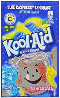 Kool-Aid Twists Ice Blue Raspberry Lemonade Unsweetened Soft Drink Mix, 0.22-Ounce Packets (Pack of 48)