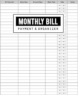 Monthly Bill Payment & Organizer: Money Debt Tracker, Simple Home Budget Spreadsheet, Budget...