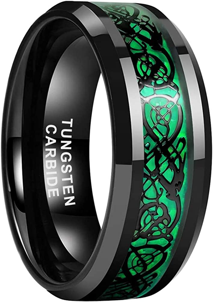 iTungsten 6mm 8mm Black Austin Mall Tungsten Carbide Women Max 90% OFF Wed for Rings Men