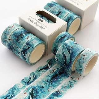 AYYQX Washi Tape 3 Piezas De Papel Decorativo Floral Flor De Cerezo Enmascarado Washi Tape Set Pegatinas Artesanía Y ScrapbookingD