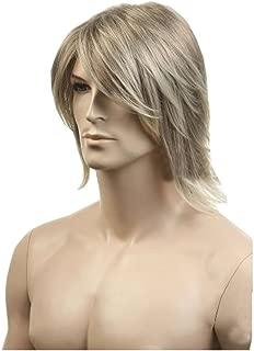 KOLIGHT® European USA Hot Men Wigs Short Flaxen Gold Color Men Natural Looking Synthetic High Quality Hair Wig