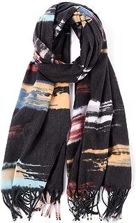 Women Scarves,Winter Shawl Keep Outdoor warmth Cashmere printed Scarf splice Tassel Wrap Leisure Shawls for Women neckerchief Plaid