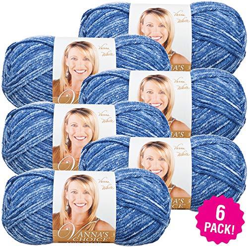 Lion Brand Vanna's Choice Yarn 6/Pk, Denim Mist 6 Pack