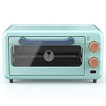 Mini horno de 11 litros, horno de pizza, temporizador de minutos, bandeja desmontable, horno pequeño, calefacción uniforme, 800 vatios