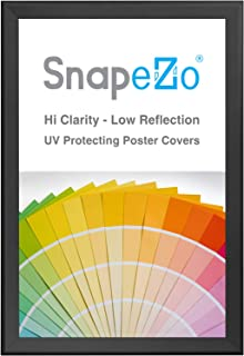 SnapeZo Movie Poster Frame 27x41 Inches, Black 1.7 Inch Aluminum Profile, Front-Loading Snap Frame, Wall Mounting, Wide Series