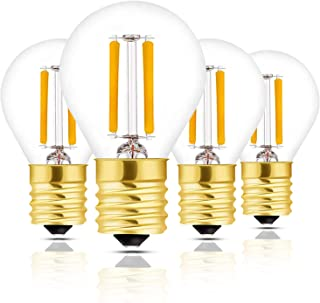 Hizashi Super Mini Globe S11 LED Light Bulb, Dimmable, 2W E17 Intermediate Base LED Filament Replacement Bulb, 25 Watt Equivalent, Warm White Light for Desk Lamp, Cabinet, Closet, Hutch - 4 Pack