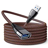 USB Extension Cable 2Pack 10FT Male to Female 3.0 Extender Cord Full Metal housing Fast Data Transfer Compatible with USB Keyboard,Mouse,Flash Drive, Hard Drive