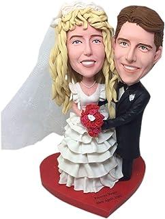 Anniversay Statuette in argilla Bobble Head interamente realizzate su disegno del cliente basate sulle foto dei clienti us...