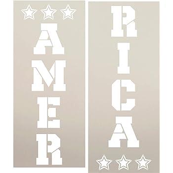 reusable America Stencil patriotic stencil Word Stencil 4th of July stencil