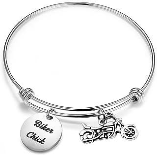 SEIRAA Biker Gift Motocycle Bracelet Biker Chick Gift Harley Girl Expandable Bracelet Harley Jewelry