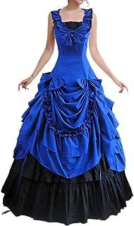 Womens Sleeveless Bowknot Gothic Lolita Dress Floor Length Ball Gown