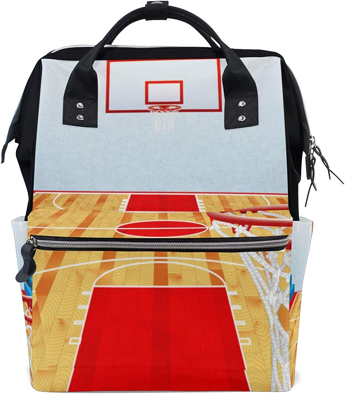 ColourLife Diaper bag Backpack Small Basketball Arena Casual Daypack Multifunctional Nappy Bags for Women Girls