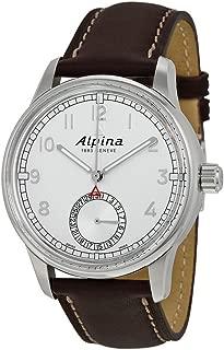 Alpina Alpiner Manufacture Silver Dial Brown Leather Mens Watch AL-710S4E6